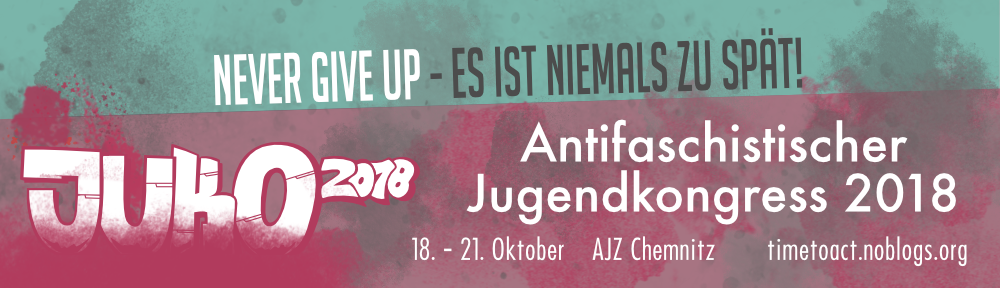 Antifaschistischer Jugendkongress 18. – 21. Oktober 2018